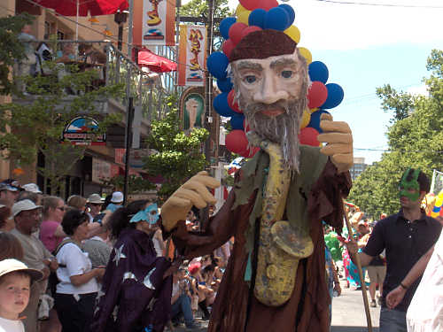 giant puppet in parade