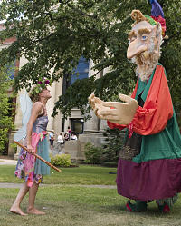 Sprite, a giant puppet play, performed at Jazz East in 2008