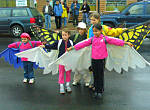 Children in wing costumes