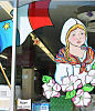 Acadian days theme window painting